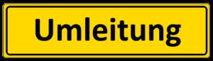 Umleitungsschild